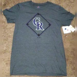 Majestic Colorado Rockies T-Shirt Men's Small NWT